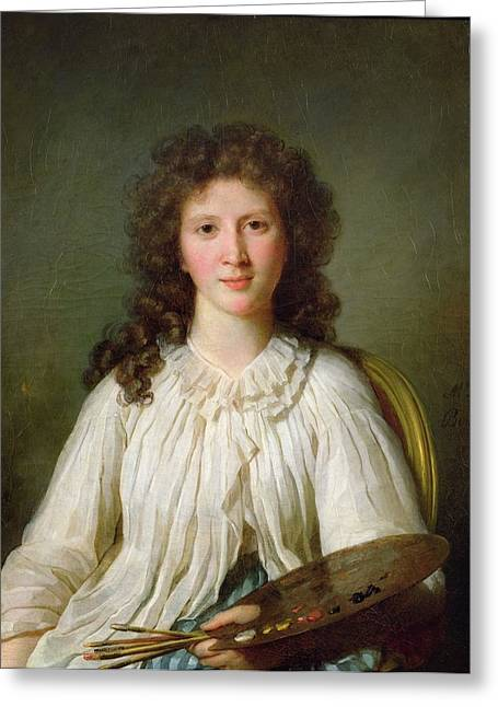 Wife Greeting Cards - Madame Alexandre Lenoir, 1796 Oil On Canvas Greeting Card by Marie Genevieve Bouliard