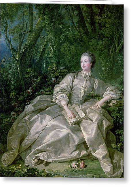 Costume Photographs Greeting Cards - Madame De Pompadour, 1758 Oil On Canvas Greeting Card by Francois Boucher