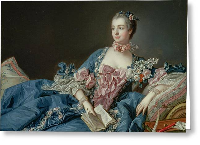 Madame De Pompadour Greeting Card by Francois Boucher