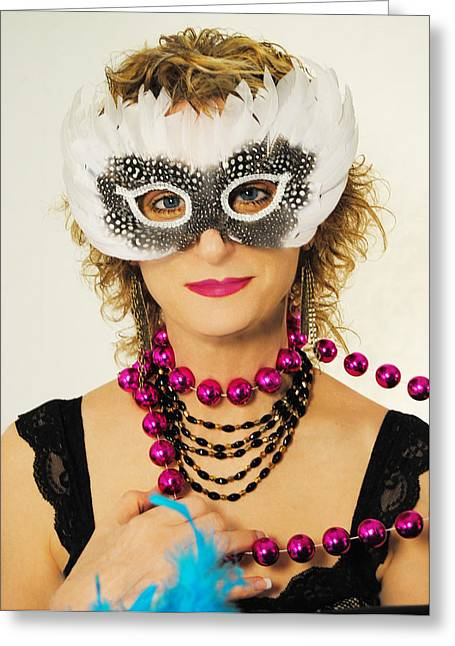 Madame Mardi Gras  Greeting Card by ARTography by Pamela Smale Williams
