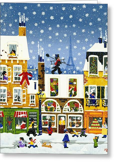 Recently Sold -  - Toy Shop Greeting Cards - Made In Paris Greeting Card by Merry  Kohn Buvia