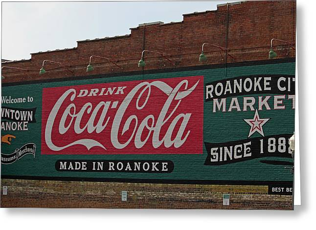 Coca-cola Mural Greeting Cards - Made in Roanoke Greeting Card by Suzanne Gaff