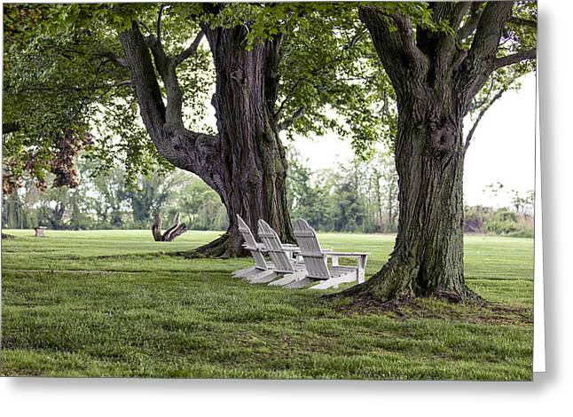 Lawn Chair Greeting Cards - Made In The Shade Greeting Card by Edward Kreis