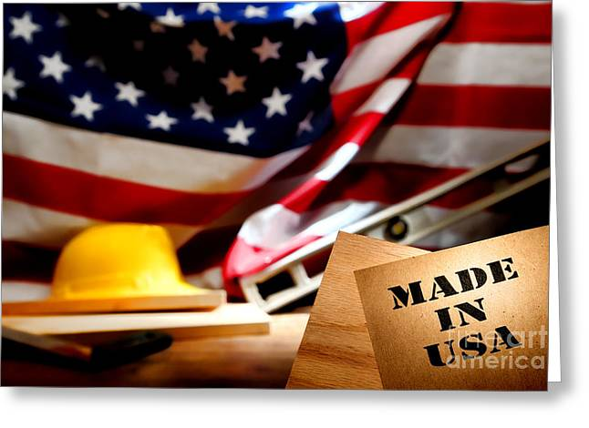 Carpentry Greeting Cards - Made in USA Greeting Card by Olivier Le Queinec