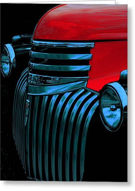 Chevrolet Pickup Truck Digital Greeting Cards - Made Of Steel Greeting Card by Jack Zulli