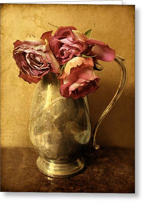 Textured Digital Art Greeting Cards - Madeira Roses Greeting Card by Jessica Jenney