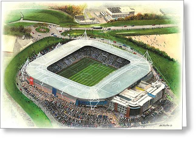 Reading Greeting Card Greeting Cards - Madejski Stadium - Reading Greeting Card by Kevin Fletcher
