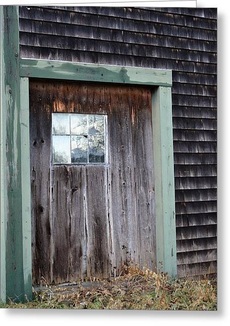 Old Maine Barns Greeting Cards - Madelines Barn - Light in the Dark Greeting Card by Nina-Rosa Duddy