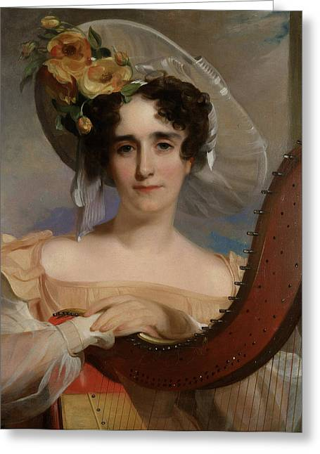 Visage Greeting Cards - Mademoiselle Ade Sigoigne Greeting Card by Thomas Sully