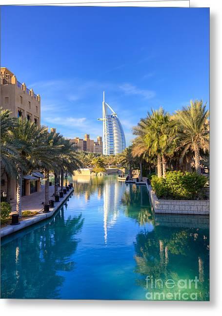 Fototrav Print Greeting Cards - Madinat Jumeira and Burj Al Arab in Dubai Greeting Card by Fototrav Print