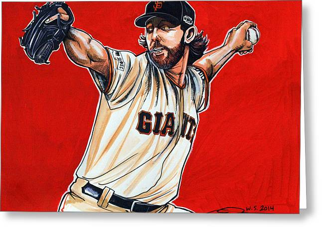 Espn Greeting Cards - Madison Bumgarner World Series MVP Greeting Card by Dave Olsen