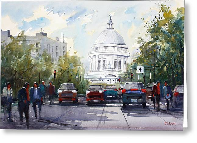 Capitol Building Greeting Cards - Madison - Capitol Greeting Card by Ryan Radke