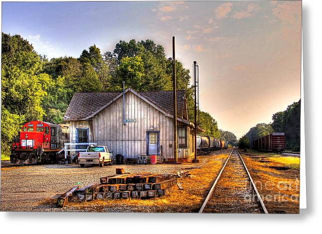 Chevrolet Pickup Greeting Cards - Madison Historic Rail Road Station Madison Georgia Greeting Card by Reid Callaway