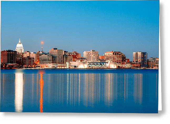 Madison Skyline Greeting Card by Todd Klassy