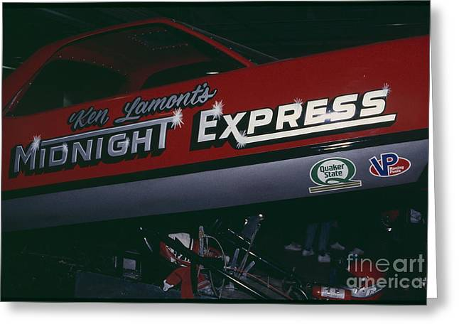 Express Greeting Cards - Madison Square Garden Monster Truck Show Midnight Express Greeting Card by Antonio Martinho