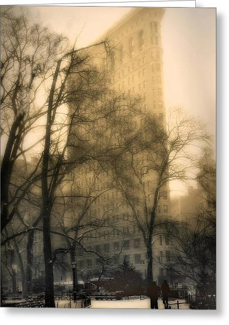 Flatiron Building Greeting Cards - Madison Square Park Greeting Card by Jessica Jenney