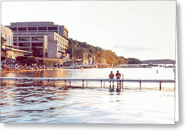 Union Terrace Greeting Cards - Madison Sunset Greeting Card by Tim Mulholland