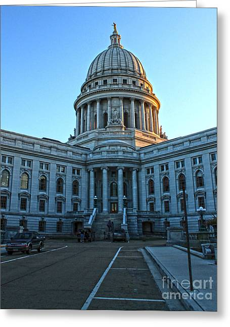 Madison Wisconsin Capitol Building - 01 Greeting Card by Gregory Dyer