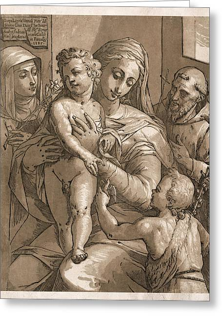 Caring Mother Greeting Cards - Madonna and Child Greeting Card by Aged Pixel