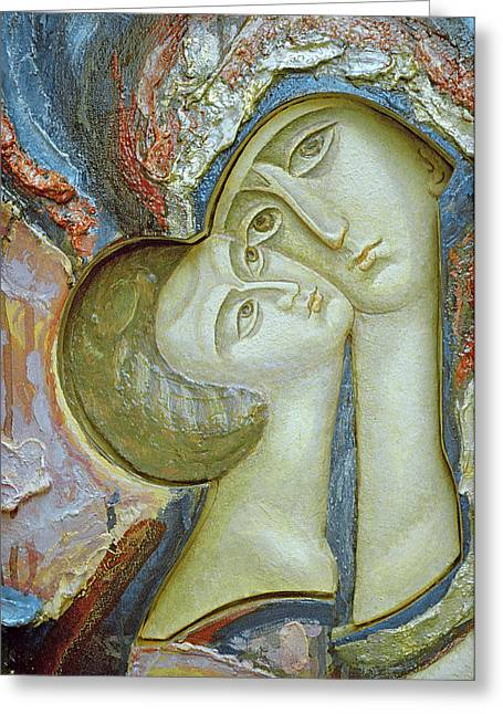 Christ Child Greeting Cards - Madonna and Child Greeting Card by Alek Rapoport