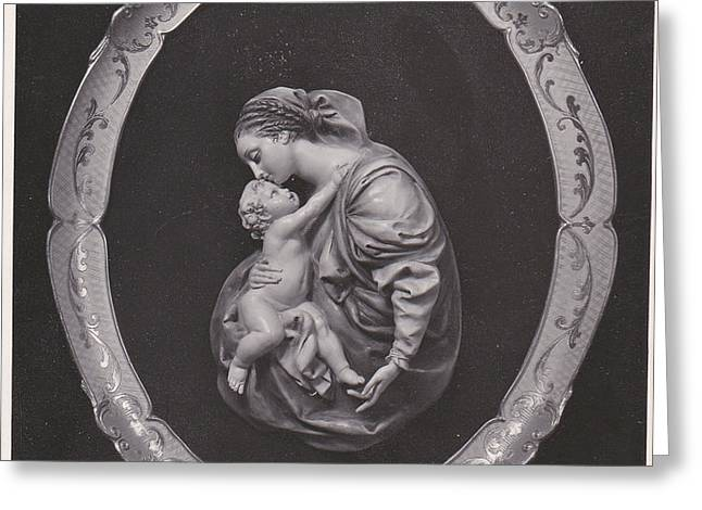 Madonna and Child Greeting Card by Allan Koskela