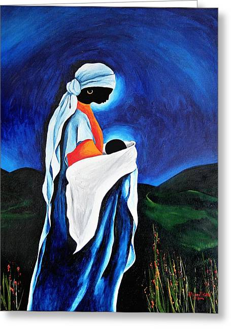 Haitian Greeting Cards - Madonna And Child - Beloved Son, 2008 Greeting Card by Patricia Brintle