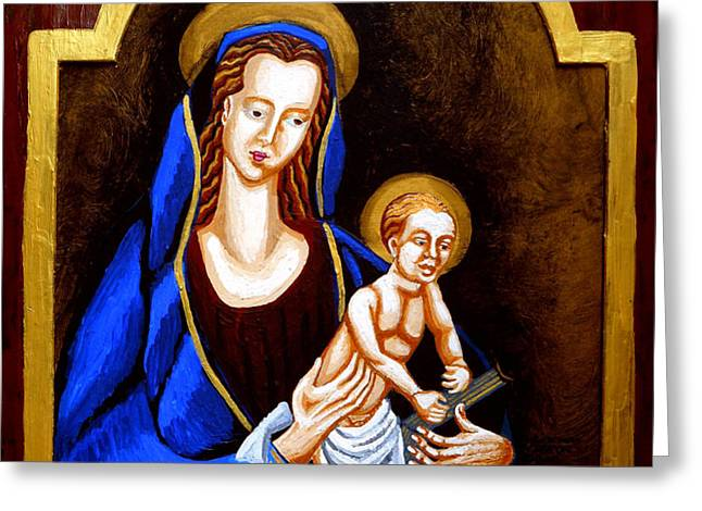 Madonna and Child Greeting Card by Genevieve Esson