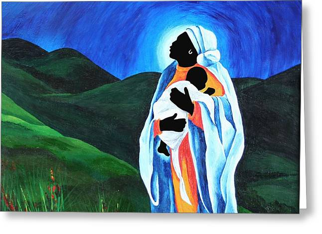 Madonna And Child  Hope For The World Greeting Card by Patricia Brintle