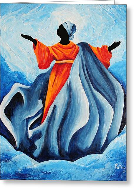 Virgin Mary Greeting Cards - Madonna Assumption - Sanctissima, 2008 Greeting Card by Patricia Brintle