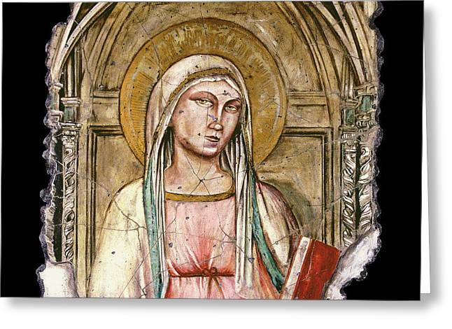 Madonna Del Parto Greeting Card by Steve Bogdanoff