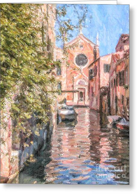 Venezia Greeting Cards - Madonna dellOrto Greeting Card by Liz Leyden