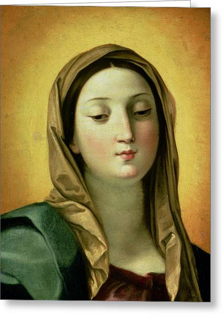 Virgin Greeting Cards - Madonna Greeting Card by Guido Reni