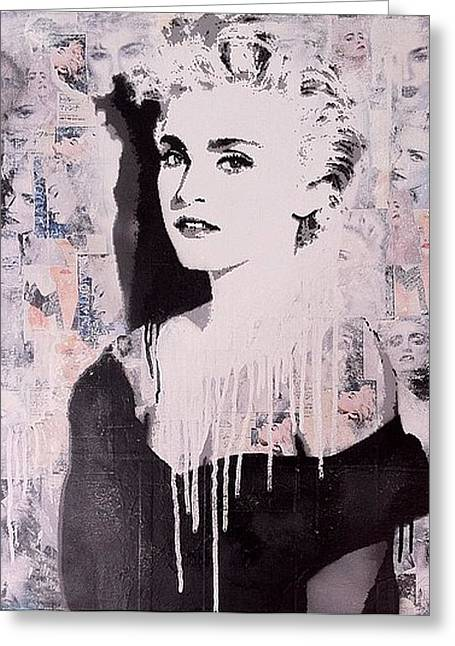 Country Schools Mixed Media Greeting Cards - Madonna Greeting Card by John Little