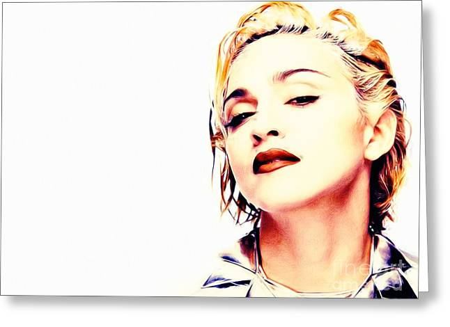 Digital Paint Greeting Cards - Madonna Greeting Card by Jonas Luis