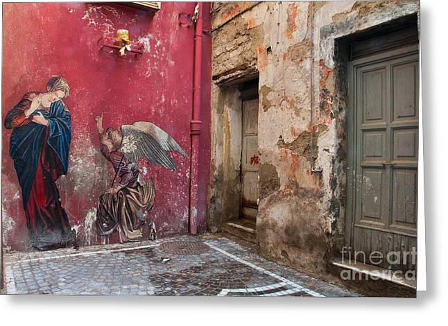 Naples Italy Greeting Cards - Madonna of the Alley Greeting Card by Marion Galt