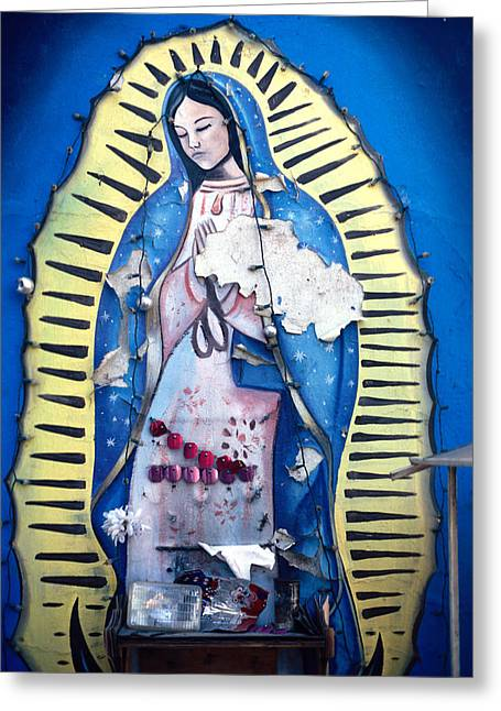 Endorsing Greeting Cards - Madonna Painting Greeting Card by Mark Goebel