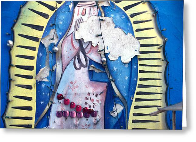 madonna painting Greeting Card by Mark Goebel