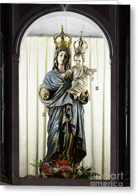 Baby Jesus Greeting Cards - Madonna Sao Luis Brazil Greeting Card by Bob Christopher