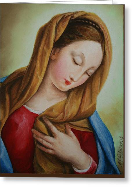 Virgin Mary Greeting Cards - Madonna version II Greeting Card by Marna Edwards Flavell