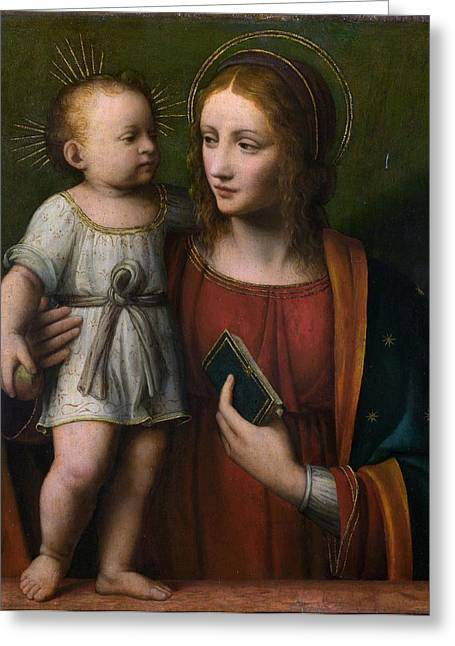 Jesus With Children Greeting Cards - Madonna with Child Greeting Card by Celestial Images