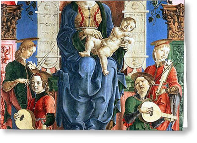 Madonna with the Child Enthroned  Greeting Card by Cosme Tura