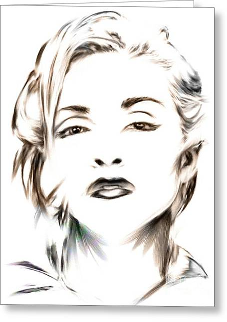 Madonna Greeting Card by Wu Wei
