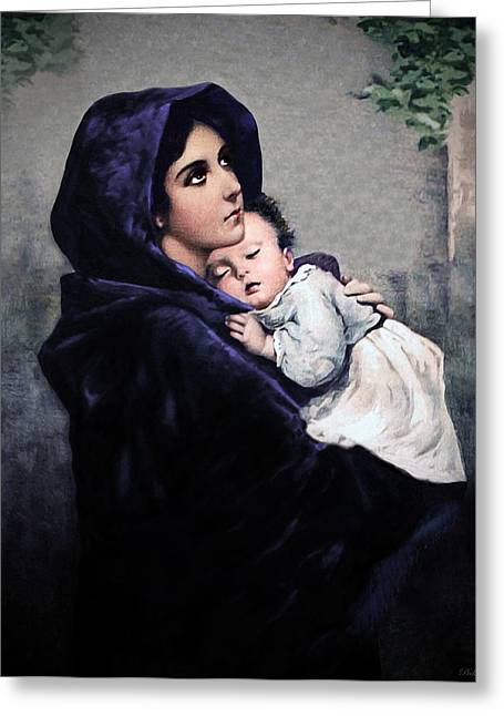 Rosary Digital Art Greeting Cards - Madonnina Greeting Card by A Samuel