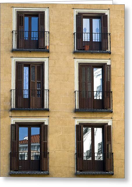 Architectural Design Greeting Cards - Madrid Greeting Card by Frank Tschakert
