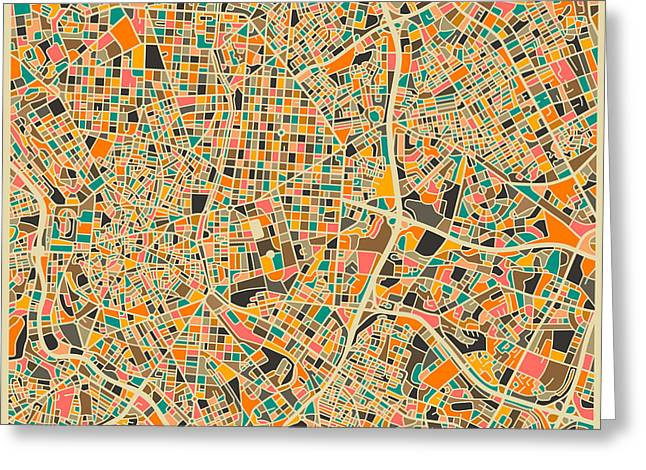 Madrid Greeting Cards - Madrid Greeting Card by Jazzberry Blue