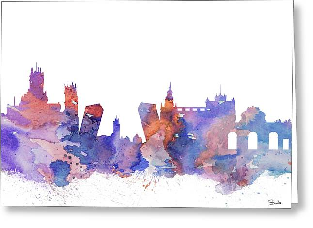 Watercolor! Art Greeting Cards - Madrid  Greeting Card by Luke and Slavi