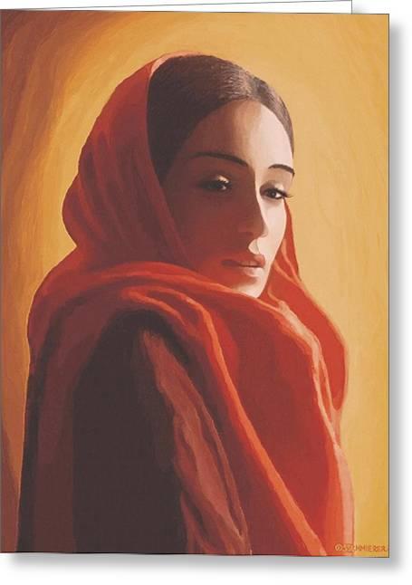 Maeror Greeting Card by SophiaArt Gallery