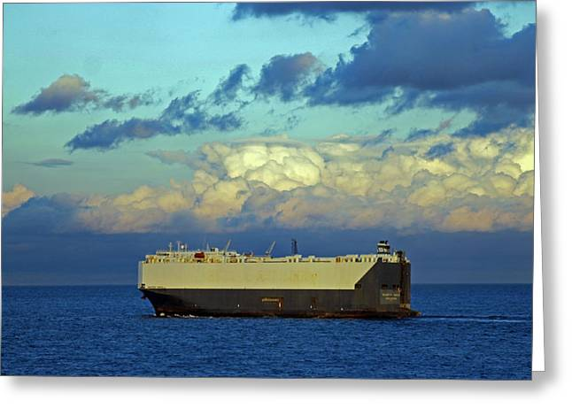 Car Carrier Greeting Cards - Maersk Wave Greeting Card by Tony Murtagh