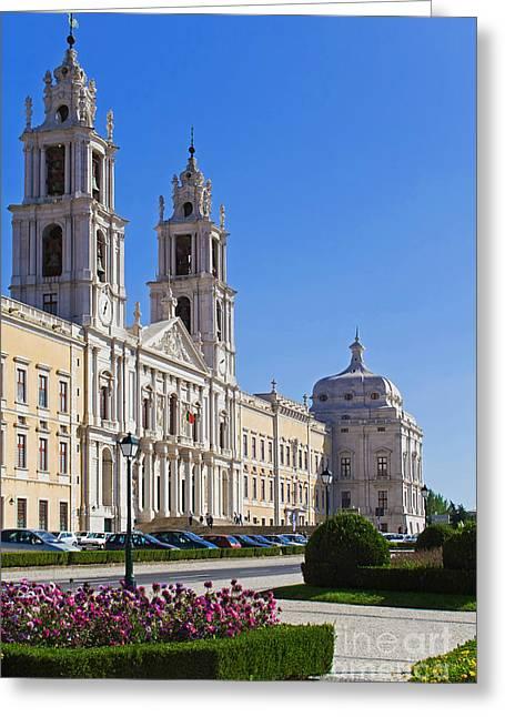 Mafra Greeting Cards - Mafra National Palace and Convent Greeting Card by Jose Elias - Sofia Pereira