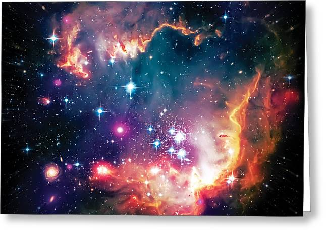 Thecosmos Greeting Cards - Magellanic Cloud 1 Greeting Card by The  Vault - Jennifer Rondinelli Reilly
